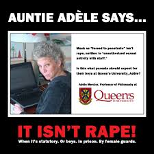 Prison Rape Meme - ad礙le mercier queens university feminist rape apologist
