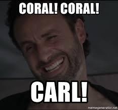 Rick Carl Memes - coral coral carl rick the walking dead meme generator