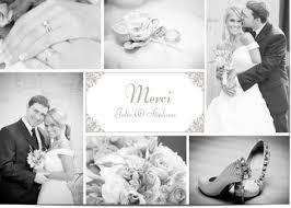 remerciement mariage photo carte remerciement mariage personnalisées avec photo
