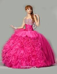 fuchsia quinceanera dresses fuchsia ruffles layered tulle stunning quinceanera dress strapless