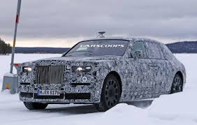 roll royce fantom 2018 rolls royce phantom mule spied less weight same looks more