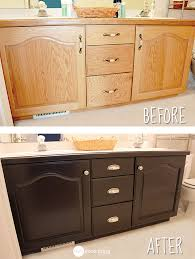 Refacing Bathroom Cabinet Doors Give Your Bathroom Vanity A Facelift One Good Thing By Jillee