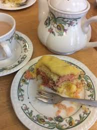 delicious tea and cake home made battenburg picture of