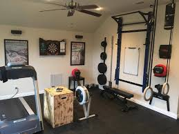 game room turned workout room featuring the prx performance pro