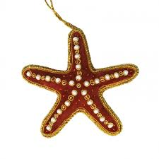 embroidered starfish ornament home accessories furniture