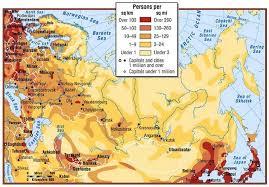 russia map by population map of russian population density siberian density is often below