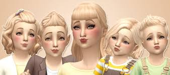 cc hair for sism4 noodles feeling peachy peach hair recolor pack by