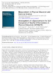 development of a questionnaire for self evaluation of teacher