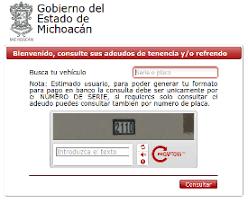 tenencia df consulta 2016 tenencia en michoacán consulta y pago de adeudo vehicular