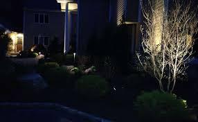 residential landscape lighting professionals autumn leaf