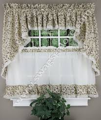 Ruffled Kitchen Curtains by Clarice Ruffled Country Curtains Violet A L Ellis View All