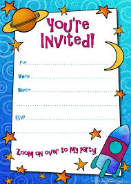 template printable sample of a birthday invitation card with