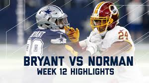 dez bryant vs josh norman thanksgiving day redskins vs cowboys