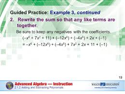 introduction polynomials or expressions that contain variables