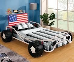 Freedom Bedroom Furniture Freedom Racer Car Bed Cm7765 Furniture Of America Kids Bedroom