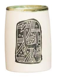 Green Desk Accessories Wholesale Handmade Ceramic Pen Stand Pencil Holder White