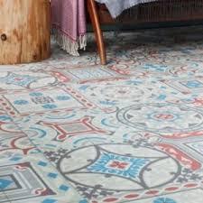 moroccan vinyl sheet flooring safi 02 in situ kitchen entry