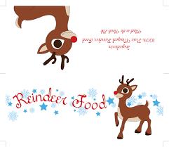free printable reindeer activities free printable reindeer food label reindeer food food tags and