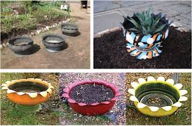 Craft Ideas For Garden Decorations - garden decorations from tires 2 find fun art projects to do at