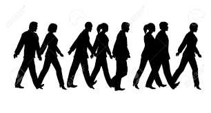 pedestrian silhouette royalty free cliparts vectors and stock