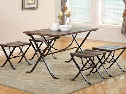 folding dining chairs ash 5 piece folding dining set bailey s furniture