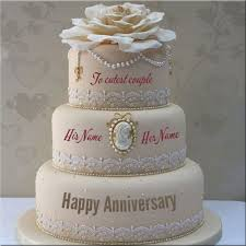 wedding anniversary cakes write your name on anniversary cakes