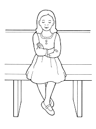 coloring pages for nursery lds young girl showing reverence in sacrament meeting