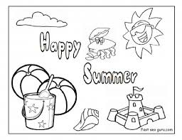 printable happy summer beach coloring pages printable coloring