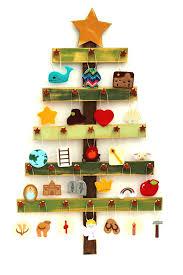 tree advent calendar and book advent ornaments set felt