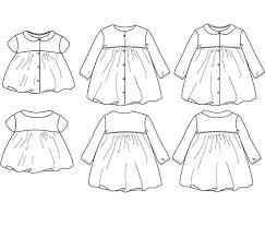 pattern dress pdf stockholm duo blouse dress baby girl 6m 4y pdf sewing pattern