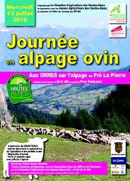 chambre agriculture hautes alpes journees alpages