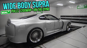 widebody supra wide body supra makes 1200 whp on dyno tuned by jay meagher