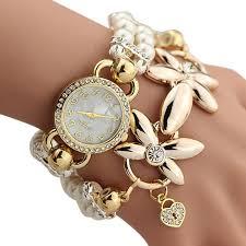 ladies pearl bracelet watches images Luxury whte pearl bracelet jewelry quartz watch women dress watch jpg