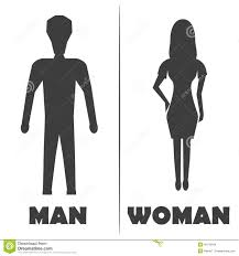 Man Woman Bathroom Symbol Male And Female Restroom Symbol Icon Vector Illustration Stock