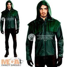 Green Arrow Halloween Costume Deluxe Green Arrow Mens Fancy Dress Superhero Comic Dc Teen Adults