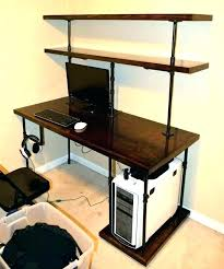 desk with shelves on side desk with side shelves desk shelves wall desk unit units shelving