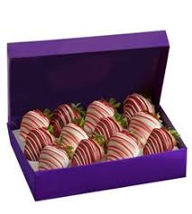 Festive Chocolate Covered Strawberries Omg Long Stemmed Chocolate Dipped Strawberry Roses A Dozen Long