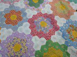 sewn flower garden finish