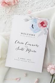 customized wedding programs wedding program template or printed wedding ceremony template