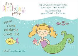 party invitations free cute mermaid party invitations cartoon