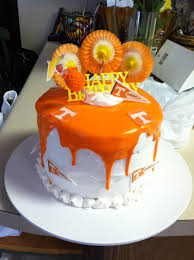 big orange birthday cake go vols crafts i have made or want to