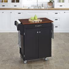 amazon com home styles cuisine cart black finish with cherry