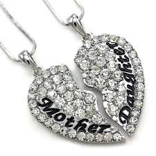 mothers necklaces best friends forever bff heart