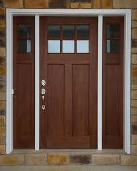 Exterior Entry Doors Craftsman Wood Exterior Entry Front Door W Sidelights Craftsman