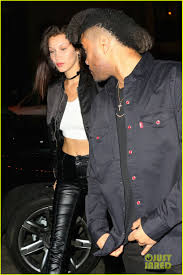 bella hadid steps out with the weeknd after landing first u0027vogue