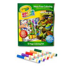 crayola free coloring pages color wonder metallic paper u0026 markers teenage mutant ninja