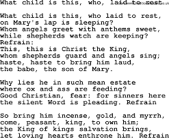 christmas hymns carols and songs title what child is this who