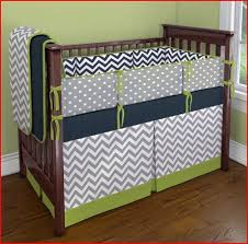 Gray Chevron Crib Bedding Sandi Pointe Library Of Collections