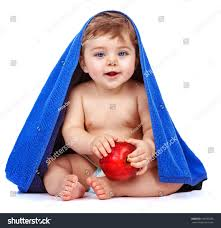 cute baby boy covered blue towel stock photo 150537203 shutterstock