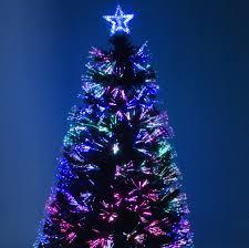 green fibre optic christmas tree with red berries u2013 garden trends